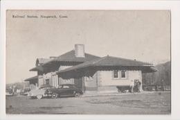 L-434 Naugatuck Connecticut Railroad Station Train Depot Postcard 1956 - Other