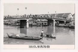 L-471 Saigon Vietnam Khu Cau-Ong-Lanh Quarter Real Photo Postcard - Postcards