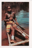 L-470 Suriname South America Young Nude Bushnegro Woman In Boat Postcard - Postcards