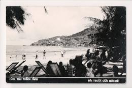 L-474 Vietnam Vung Tru Thang Canh Beach Scene Real Photo Postcard 1966 - Postcards