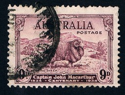 AUSTRALIA • 1934 • 9d MacArthur • Used • SG 152 / SC 149 / Michel 125 (#2) - Used Stamps