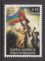 2013 Uruguay Anti Discrimination AMERICA Complete Set Of 1 MNH - Uruguay