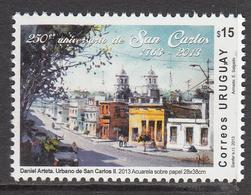 2013 Uruguay San Carlos Art Paintings  Complete Set Of 1 MNH - Uruguay