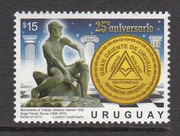 2015 Uruguay Grand Orient Masonic Order Complete Set Of 1 MNH - Uruguay