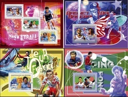 Guinea 2007, Sport 1, Basketball, Cyclism, Tennis Table, 3val In BF +3BF - Guinea (1958-...)