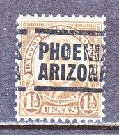 US   633   PERF  11 X 10 1/2  (o)  AZ.  STATE   PRECANCEL - Stati Uniti