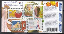 2008  Netherlands Antilles Joint Issue Dutch Food  Souvenir Sheet MNH - Curaçao, Antilles Neérlandaises, Aruba