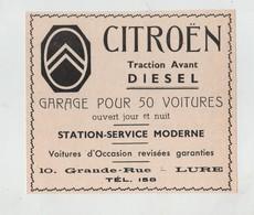 Publicité 1937 Citroen Traction Avant Diesel Lure - Pubblicitari