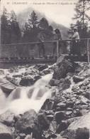 74----CHAMONIX---cascade Des Pélerins Et L'aiguille Du Midi---voir 2 Scans - Chamonix-Mont-Blanc