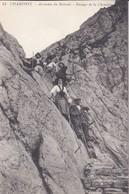 74----CHAMONIX---ascension Du Brévent--passage De La Cheminée---voir 2 Scans - Chamonix-Mont-Blanc