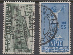 Italy Republic S 618-619 1950 5th Unesco Conference,Mint Hinged - 6. 1946-.. Republik