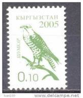 2005. Kyrgyzstan,  Definitive, Falcon, 0.10, 1v Perforated, Mint** - Kirgisistan