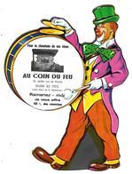 PUBLICITE DECOUPI MAISON AU COIN DU FEU DIJON Thème Clown Cirque - Publicités