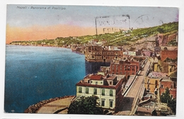 (RECTO / VERSO) NAPOLI EN 1929 - PANORAMA DI POSILLIPO - CACHET HOTEL NAZIONALE - BEAU TIMBRE - CPA COULEUR VOYAGEE - Napoli