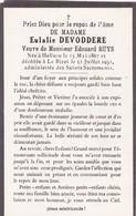 Halluin, Le Bizet, 1951, Eulalie Devoddere, Huys - Devotion Images