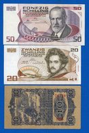 Autriche  6  Billets  Dans  L'etat - Austria