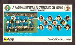 Cartolina La Nazionale Italiana Al Campionato Del Mondo Argentina 1978 - Trading Cards