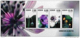 Denmark 2011   Flowers/Blummen Minr.1650-53  Block 43 MNH (**)    ( Lot Mappe ) - Ungebraucht