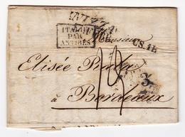 Lettre Nice 1835 Nizza Regno Di Sardegna Isaac Samuel Avigdor Huile D'Olive Orande Elisée Raba Bordeaux Gironde - Sardaigne