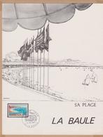 ENCART TIRAGE LIMITE 1967 SA PLAGE LA BAULE VOIR PHOTOS - FDC