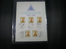 "BELG.1984 2112 FDC Filatelic Card : "" 150 Year VUB ULB University Of Brussels, University Building  "" - FDC"