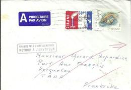 LETTER RETOUR   A PORT AUX FRANCAIS  KERGUELEN   TAAF - 1944-... República