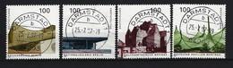 BUND Mi-Nr. 1906 - 1909 (aus Block 37) Deutsche Architektur Nach 1945 Gestempelt DARMSTADT - BRD