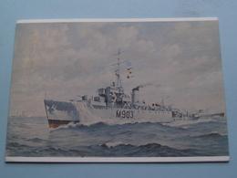 M 903 - A.F. Dufour Hoogzeemijnenveger Type Algerine 1943-1957 ( Wenskaart Ed. Neptunus 1976-77 > Zie Foto Details ) ! - Equipment