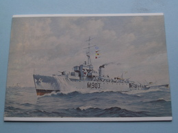 M 903 - A.F. Dufour Hoogzeemijnenveger Type Algerine 1943-1957 ( Wenskaart Ed. Neptunus 1976-77 > Zie Foto Details ) ! - Ausrüstung