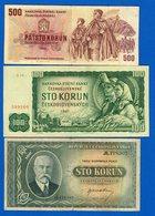 Tchécoslovaquie  7  Billets - Czechoslovakia