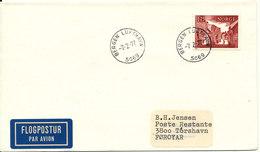 Norway Cover Sent To Faroe Islands Bergen Lufthavn 7-2-1977 Single Franked - Norway
