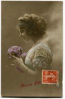 CPA - Carte Postale - Fantaisie - Portrait De Femme - Bonne Fête - Fleurs - 1910 (B9417) - Femmes