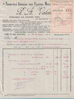 1916 FABRIQUE DE SAVON FINS LE MOSSEUX ET SAVONS ANGLAIS P. A. VALENTIN 77 QUAI PIERRE-SCIZE LYON FILATURE MOULINAGE - France