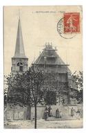 60/ OISE.. MOYVILLERS. L'Eglise.. Echaffaudage, Restauration - Autres Communes