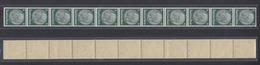 Dt. Reich 516 11er Streifen Hindenburg 6 Pfennig Ungefaltet Postfrisch - Ohne Zuordnung