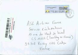 Vignette De Distributeur LISA _ ATM - Avec Code Datamatrix - AA = Lettre Recommandée - 2000 «Avions En Papier»