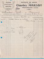 1910 MAISON DE GROS CHARLES MARSOT PONTARLIER DOUBS EPICERIE DROGUERIE MERCERIE - France