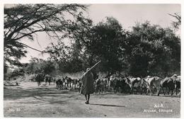 Ethiopia, Aroussi, Shephers, Stamp 1965  Old Postcard - Ethiopia