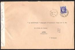 FRANCE CENSURE Lettre 1942 Avec Yvert 375A Et Censure Allemande / German Censorship - Francia
