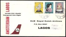 NEDERLAND 1961 1e KLM-vlucht Amsterdam  -  Lagos - Correo Aéreo