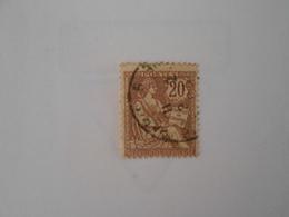 FRANCE YT 126 TYPE MOUCHON RETOUCHE 20c. Brun-lilas Cachet à Date - 1900-02 Mouchon