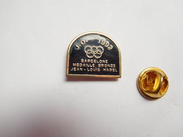 Beau Pin's , JO , Jeux Olympiques  Barcelone 1992 , Jean Louis Harel , Médaille De Bronze , Cyclisme - Olympic Games