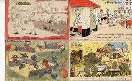 MILITARIA - CARTES HUMORISTIQUES  - LOT De 14 CPA - - Humorísticas