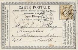 1875- C P Précurseur De PARIS / R. DU LUXEMBOURG Affr. N° 55 Oblit. étoile 35 - Storia Postale