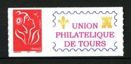 """Personnalisé - 3802 A - TVP 20gr. - Adhésif - Logo """"Union Philatél. De Tours"""" - Grande Vignette - Neuf N** - Très Beau - Personnalisés"""