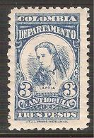 1903 1904 COLOMBIA Departamento De Antioquia LA POLA, Policarpa Salvatierra Sc. 154 MNH - Colombia