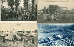 CAMP De COETQUIDAN  - LOT De 4 CPA - - Militares