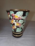 Vase Multicolore Motifs Floral En Céramique De Vallauris - Vallauris (FRA)