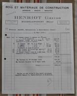 55 HOUDELAINCOURT  HENRIOT GASTON Bois Et Materiaux De Construction SAINT MIHIEL - France