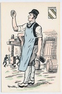 CPSM 10.5 X 15 Costume Folklorique CHAMPAGNE Homme Illustrateur Margotton - Illustratoren & Fotografen